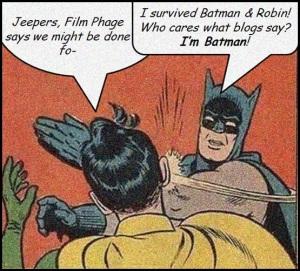 Batman slaps Robin